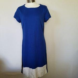 New York & Company Womens Dress S Color Block Blu